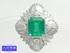 PT900 プラチナ ダイヤ取巻き エメラルド リング 15号 E2.59ct D1.14ct 12.3g 中古A- 【送料無料】C-7232