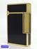 ST.Dupont エス・テー・デュポン ライター LINE2  ライン2 ガスライター ブラック ラッカー 黒漆 ゴールド 中古B  【送料無料】D-1832